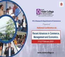 NATIONAL CONFERENCE ON RECENT ADVANCES IN COMMERCE, MANAGEMENT AND ECONOMICS